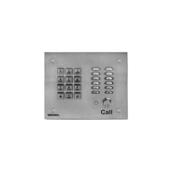 Viking Electronics K-1700-3EWP SS Handsfree Phone W/ Key Pad