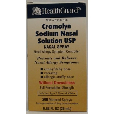 HEALTHGUARD BAUSCH LOMB Cromolyn Sodium Solution For Nasal Allergies Generic for Nasalcrom 0.88oz (26ML)