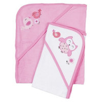 Gerber Newborn Girls' 2 Pack Hooded Towels - Pink/White