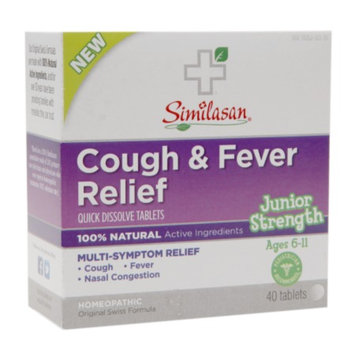 Similasan Junior Strength Cough & Fever Relief Quick Dissolve Tablets, 40 ea