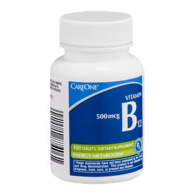 CareOne Vitamin B12 500mcg Tablets - 100 CT