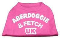 Mirage Pet Products 5102 XXLBPK Aberdoggie UK Screenprint Shirts Bright Pink XXL 18