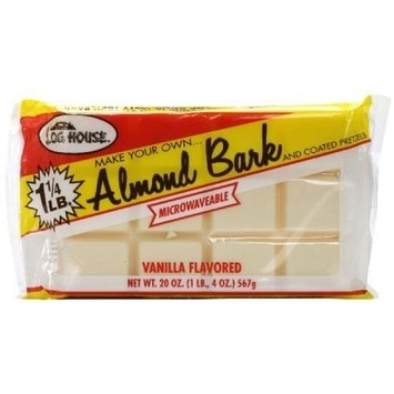 Log House Almond Bark Vanilla, 20-Ounce (Pack of 6)