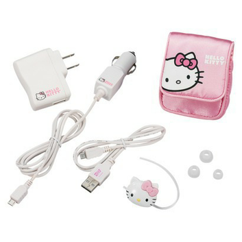 Hello Kitty Noise Cancelling Bluetooth Cellular Headset - Pink/White