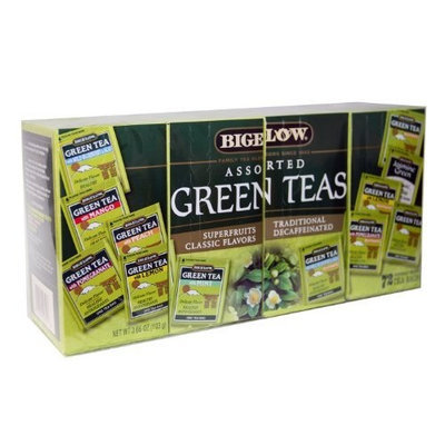 Bigelow Tea Bigelow Assorted Green Teas - Pack of 72 Tea Bags - Superfruits, Classic Flavors, Decaffeinated, Traditional