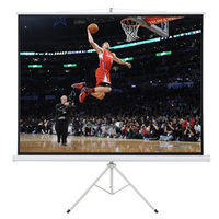 Onebigoutlet 100 Portable Tripod Stand Projector (80x60) Projection Screen 4:3 Ratio, Matte White