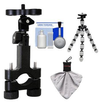 Intova Essentials Bundle for ContourROAM, ContourROAM 2 & Contour+ 2 Action Camcorders with Handlebar Bike Mount + Flex Tripod + Accessory Kit