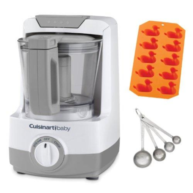 Cuisinart Baby Food Maker & Bottle Warmer + Duck Ice Cube Tray + 4 Piece Stainle