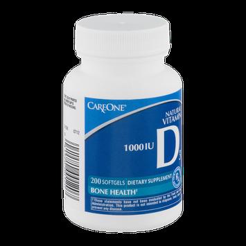 CareOne Natural Vitamin D3 Bone Health Softgels 1000 IU - 200 CT