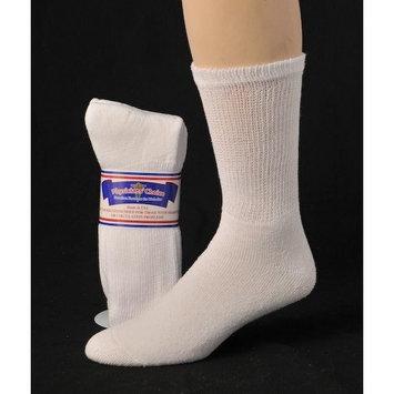 Greaterfeet Diabetic Socks, Ultra Light, 12pair, Crew/White Size 10-13