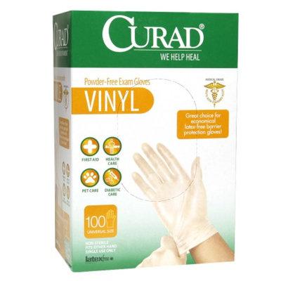 Curad Powder-Free Exam Gloves, Vinyl, Universal, 100 ea
