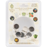 Epiphany Crafts Metal Brad Settings Round 14, 10/Pkg