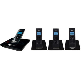 GE/RCA 2132-4BKGA DECT Cordless Phone with 3 Extra Handsets