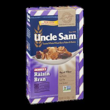 Uncle Sam Toasted Whole Wheat Berry Flakes & Raisins Raisin Bran