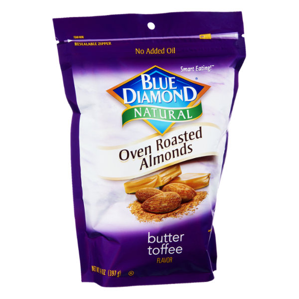 Blue Diamond® Butter Toffee Flavor Natural Oven Roasted Almonds