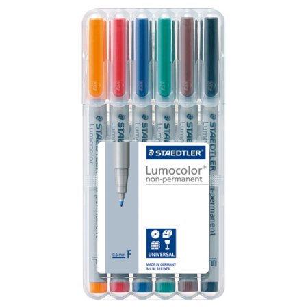 Staedtler ST 314 WP6 A6 Overhead pen Lumocolor Bold permanent 6 pieces