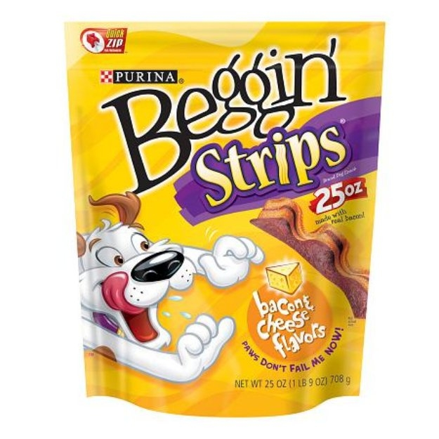 Purina Beggin' Strips Bacon & Cheese Flavors Dog Snacks