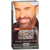 Just For Men Touch of Gray Mustache & Beard Hair Treatment, Dark Brown & Black B-45/55, Color, 1 ea