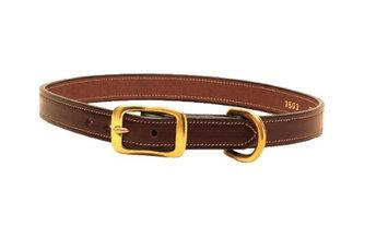 Tory Leather Saddle Stitched Dog Collar