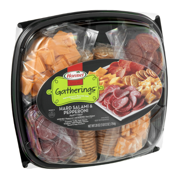 Hormel Gatherings Hard Salami & Pepperoni Party Tray
