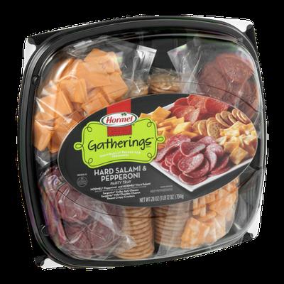 Hormel Gatherings Hard Salami & Pepperoni Party Tray