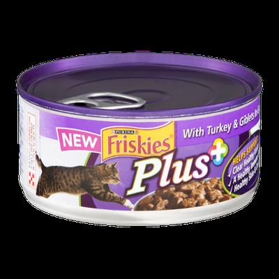 Friskies® Plus+ Cat Food with Turkey & Giblets In Gravy