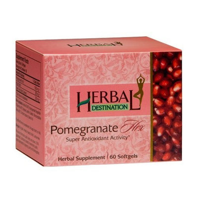 Herbal Destination Pomegranate Hrx - Supplements With Arjuna And Green Tea.