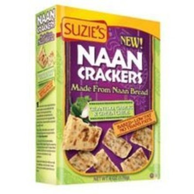 Suzies Suzie's Naan Crackers, Cilantro & Green Chilli 5 oz. (Pack of 12)