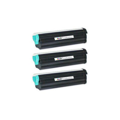 LD Compatible Okidata 43502001 Set of 3 High Yield Black Laser Toner Cartridges for use in the B4550, B4550n, B4600, B4600n PS Printers