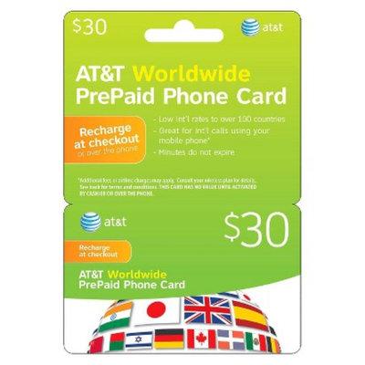 AT&T Worldwide $30 PrePaid Phone Card