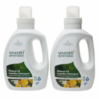 Seventh Generation Liquid Laundry 4X, Geranium Blossoms & Vanilla, 2 ea