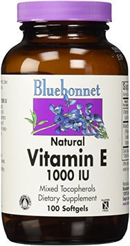 Bluebonnet Nutrition - Natural Vitamin E Mixed Tocopherols 1000 IU - 100 Softgels