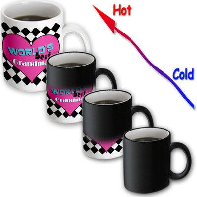 Recaro North 3dRose - Janna Salak Designs Worlds Best - Worlds Best Grandma - 11 oz Transforming mug