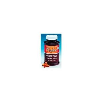 Carlson Labs E-Gems Plus Natural Vitamin E, 400 IU, 50 Softgels