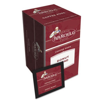 Knurr Premium Coffee Pods, Donut Blend, 0.75 oz, 18/Box