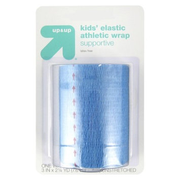 up & up up&up Kids' Elastic Athletic Wrap 2.3 Yards - Blue