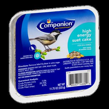 Companion Suet Cake for Wild Birds High Energy