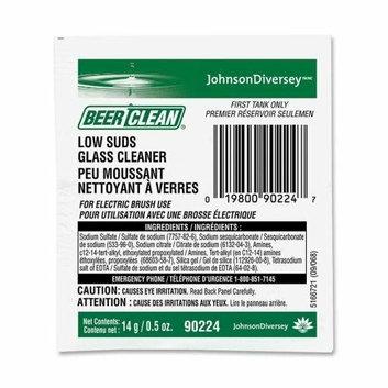 Diversey 90224 Low Suds Glass Cleaner 14gram Powder