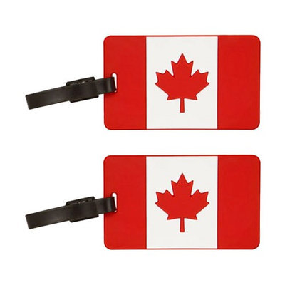 Travelon Canadian Flag Tag Assorted Colors-2-Pack Flag Tag