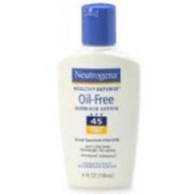 Neutrogena Healthy Defense Oil-Free Sunblock Lotion, SPF 45, 4 Fluid Ounce