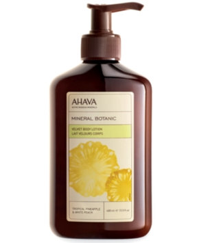 AHAVA Mineral Botanic Velvet Body Lotion Tropical Pineapple and White Peach, 13.5 oz