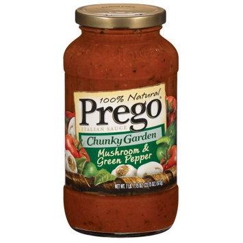 Prego Chunky Garden Mushroom and Green Pepper Sauce, 23.7 OZ (Pack of 6)