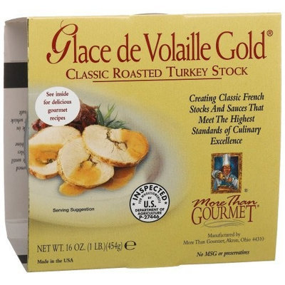 More Than Gourmet Glace De Volaille Gold Roasted Turkey Stock, 16-Ounce Packages