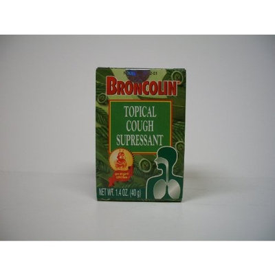 Topical Cough Supressant Broncolin Topical Cough Suppressant Rub 1.4 oz