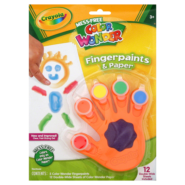 Crayola Color Wonder Fingerpaints & Paper, 1 kit