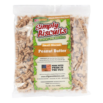 K9 Granola Factory Simply Biscuits Peanut Butter Dog Treat Small 1lb