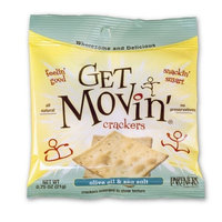Partners Get Movin' Crackers, Olive Oil & Sea Salt, 0.75-Ounce Bags (Pack of 60)
