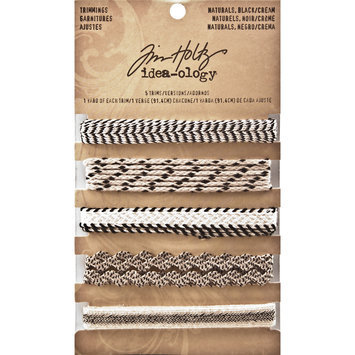 Leeco Industries Inc. Idea-Ology Naturals Trimmings 5 Styles/1 Yard Each Black/Cream