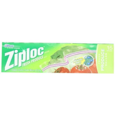 Ziploc Fresh Produce Bag, 15-Count(Pack of 3)
