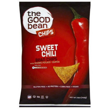 The Good Bean Sweet Chili Bean Chips, 5 oz, (Pack of 12)